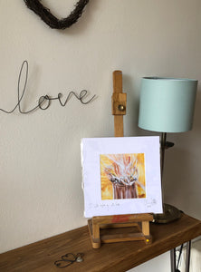 I will baptise you with fire- signed photo print in a cream mount