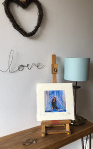 'Here is love'- signed photo print in a cream mount