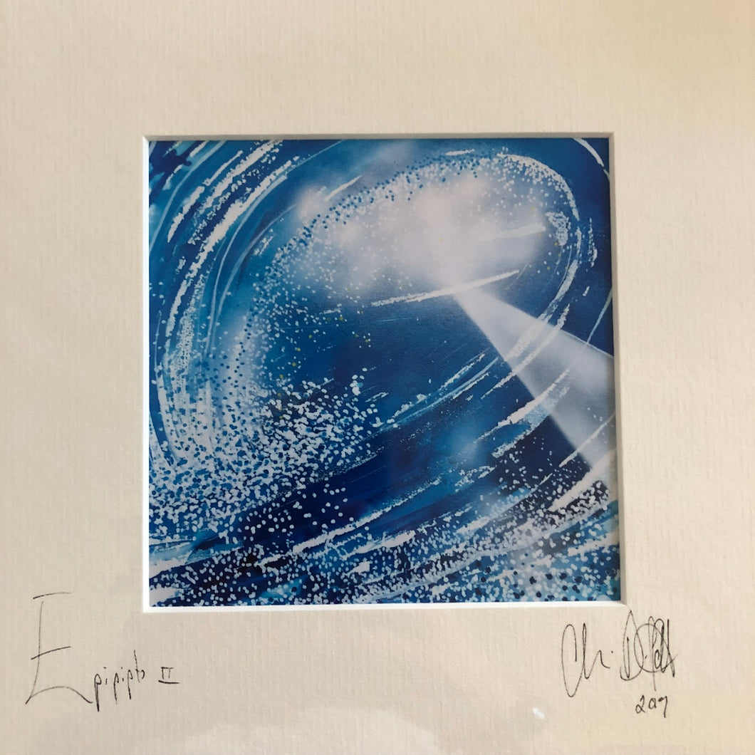 'Epipipto'-signed photo print in a cream mount