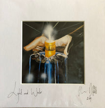 'Light and water'- signed photo print in a white mount