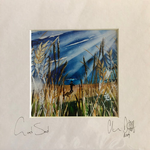 'Good Seed'- signed photo print in a white mount