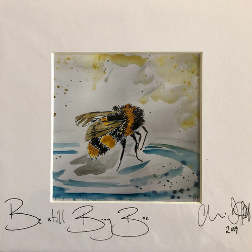 'Be still busy bee'- signed photo print in a white mount