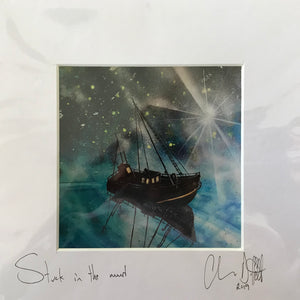 'Stuck in the mud'- signed photo print in a white mount