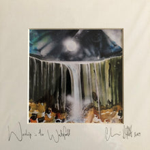 'Worship in the waterfall.'- signed photo print in a cream mount