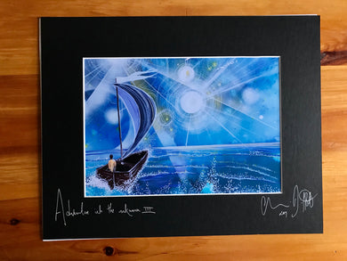 Adventure into the unknown III, signed photo print in a black mount