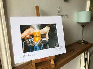 Light and Water, signed photo print in a white mount