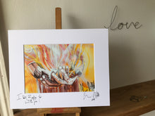 I will baptise you with fire, signed photo print in a white mount.