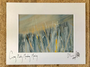 Grey Misty Monday Morning- signed photo print in a white mount