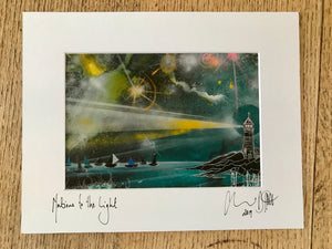 Nations to the light II, signed photo print in a white mount