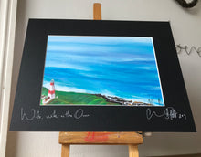 Wide, wide and the ocean- signed photo print- black mount