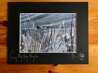 Grey Misty Monday Morning II. Signed photo print in a black mount.