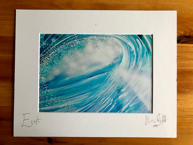 Epipipto, signed photo print in a white mount.