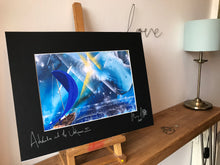 Adventure into the unknown II, signed photo print in a black mount.