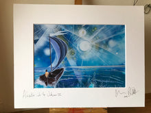 Adventure into the unknown III, signed photo print in a white mount.