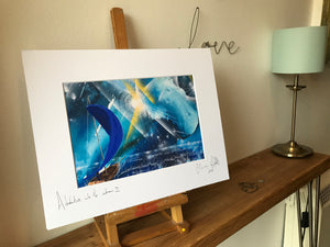 Adventure into the unknown II, signed photo print in a white mount