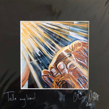 'Take My Hand'- signed photo print in a black mount