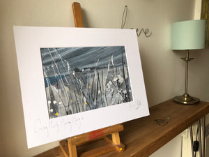 Grey Misty Monday Morning II. Signed photo print in a white mount