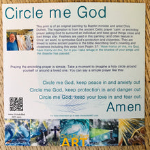 Pack of 5 prints: 'Circle Me God.'