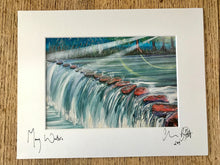 Many Waters. Signed photo print in a white mount.