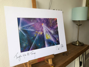 Through Him All Things. Signed photo print in a white mount.