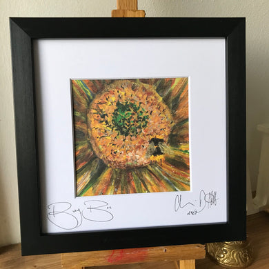 Framed print of 'Busy Bee.'