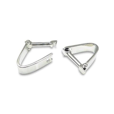 Polished Stirrup style Cufflinks