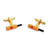 Coloured Cricket Bat and Ball Cufflinks