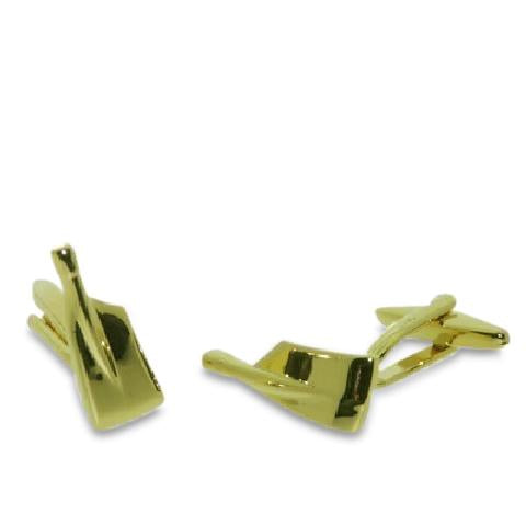Gold Plated Rowing Blades Cufflinks