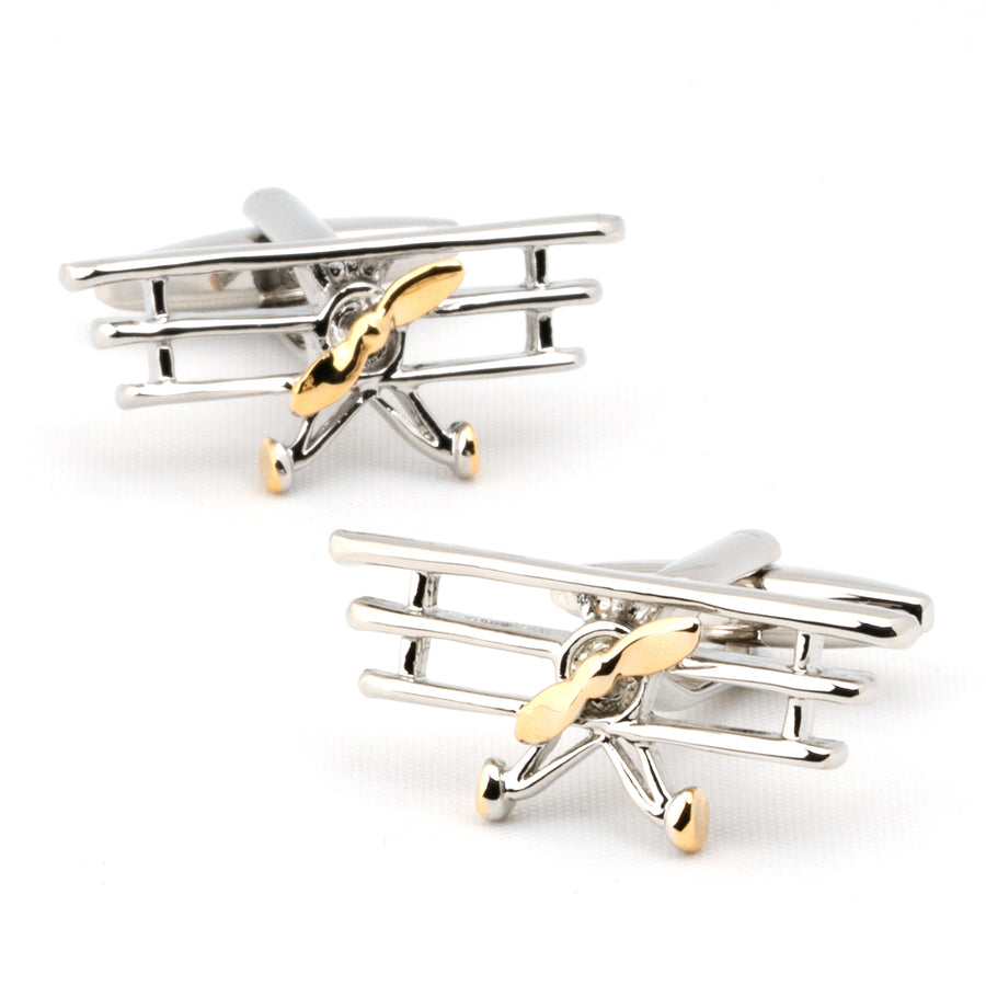 """High Flyer"" TriPlane Cufflinks"