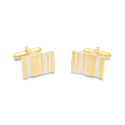 Five Bar Matt Gold Cufflinks