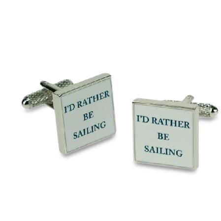 I'd rather be Sailing Cufflinks