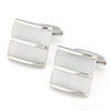 Dual White Ice Cateye Silver Cufflinks