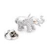 Brushed Silver Elephant Lapel Pin