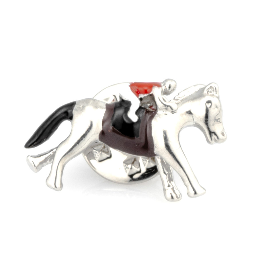 Horse and Jockey Lapel Pin Colour