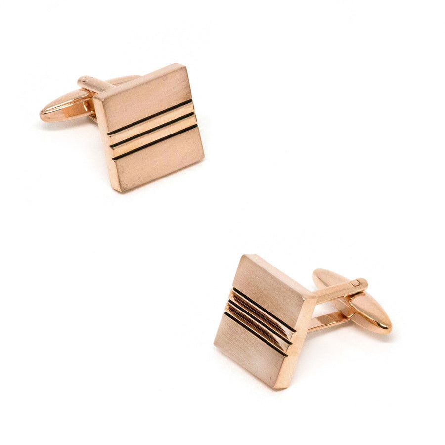Classic Rose Gold with Black Lines Cufflinks