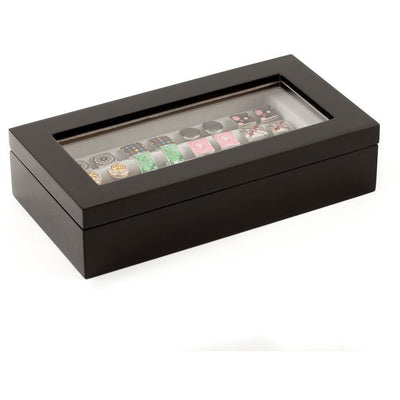 20 Pair Black Cufflink Box