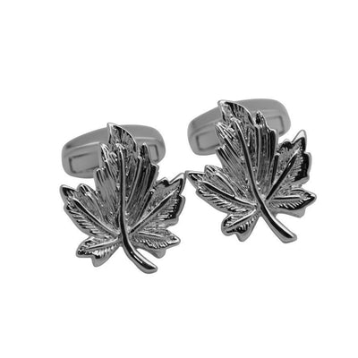 Silver Canadian Maple Leaf Cufflinks