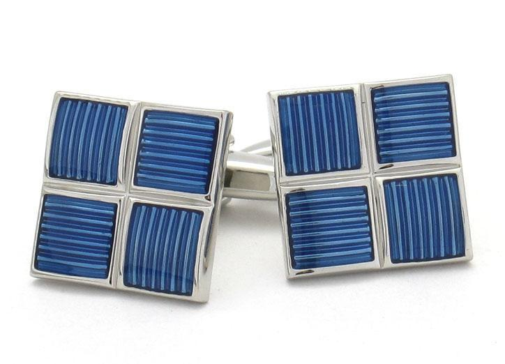 Metallic Blue Cufflinks