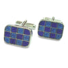BlueTurquoise 12 Square Cufflinks