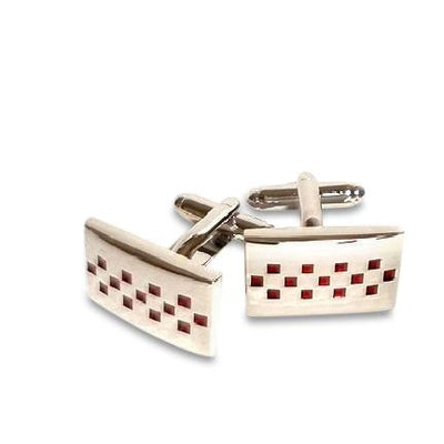 Red Crystals Sign Cufflinks