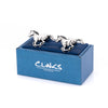 Silver Galloping Horses Cufflinks