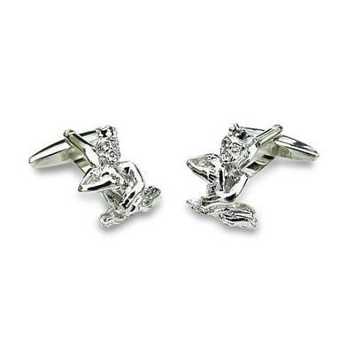 Aquarius Water Carrier Silver Cufflinks