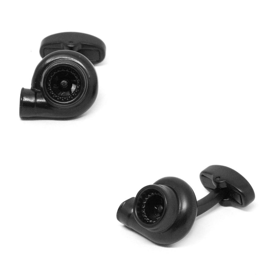 Black Turbo Cufflinks