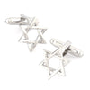 Silver Star of David Cufflinks