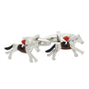 Racing Horses with Jockey (Colour) Cufflinks