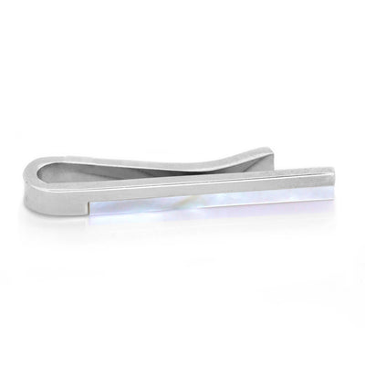 Mother of Pearl and Silver Tie Bar