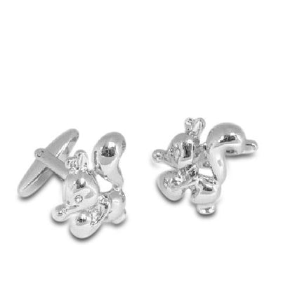 Cartoon Squirrel and Acorn Cufflinks
