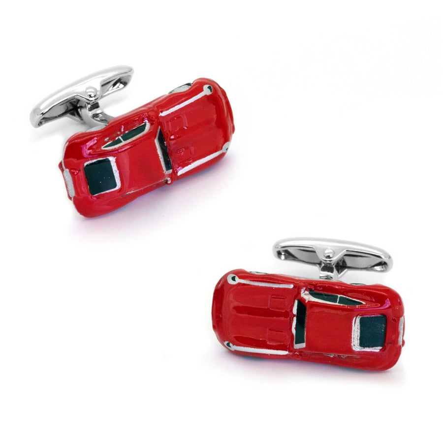 Red Jaguar Style E Type Car Cufflinks