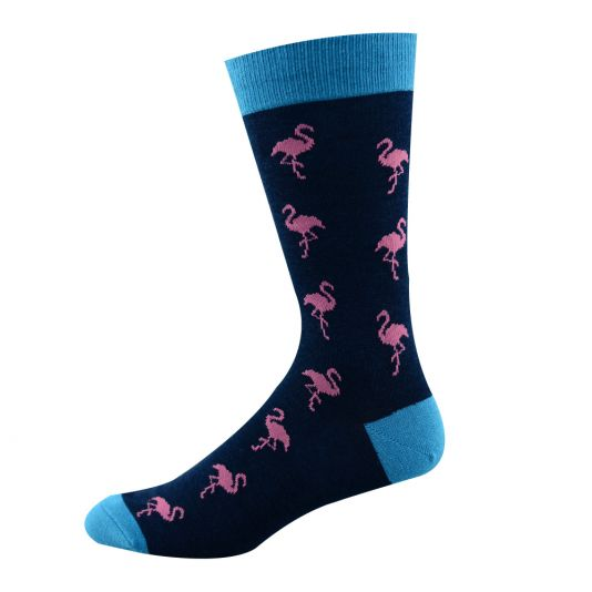 Mens Ditsy Flamingo Sock
