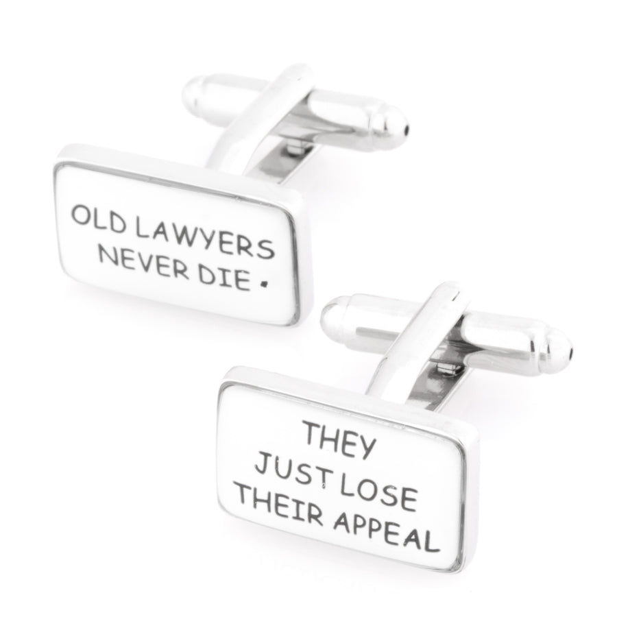 Old Lawyers Never Die Cufflinks